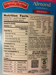 friendly farms almond milk unsweetened