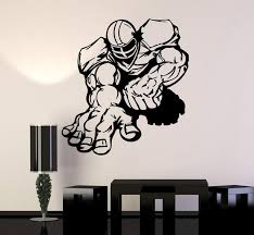 Vinyl Wall Decal American Football Player Sports Cool Design Stickers Wallstickers4you