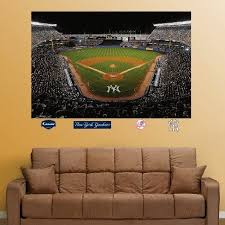 Check Price Old Yankee Stadium Mural Wall Decal 72 X 48 In Marnie Colley Dfge