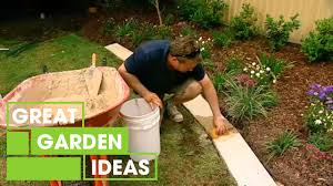 How To Make Great Garden Edging Gardening Great Home Ideas Youtube