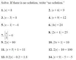 lg 5 absolute value equations