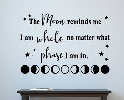 Wall Decal Moon Wall Decor Moon Phases Inspirational Decal Etsy In 2020 Inspirational Decals Moon Wall Art Wall Decals