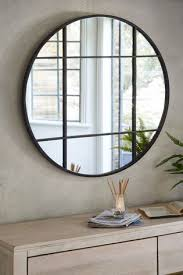 metal window round mirror from the next