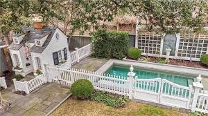 Guest House Pool White Picket Fence Dallas Highland Park Backyard Large Lot Historic Home The Glam Pad