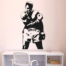 Muhammad Ali Boxing Wall Decal Stickers Decor Vinyl Poster Cassius Clay Boxing Gift Wall Decals Stickers Decorative Vinyldecal Sticker Aliexpress