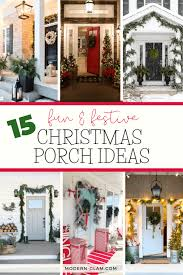 15 fun festive christmas porch ideas