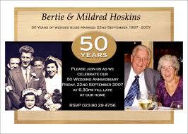 50th wedding anniversary invitation