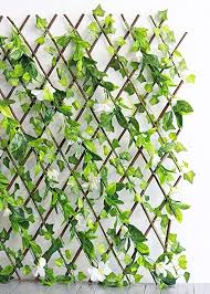 Uv Protected Outdoor Ivy And Flower Expandable Fence 8 Wide Amazon Ca Home Kitchen
