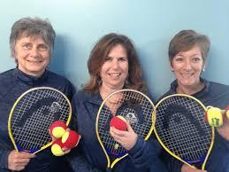 Anne Parker, Allyson Smith, Karen Fossett Red Ball Team Longfellow Tennis    Longfellow Health Clubs