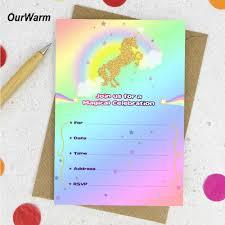بطاقة دعوات 10 قطعة من Ourwarm لحفلة عيد الميلاد على شكل وحيد