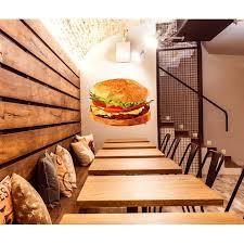 Shop Burger Polygonal Wall Decal Hamburger Polygon Kitchen Decor Wall Art Overstock 31976928