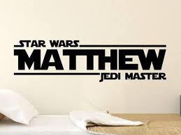 Star Wars Personalized Vinyl Wall Decal Sticker Boys Decor Decals By Droids