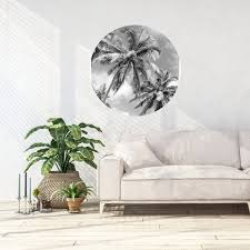 Palm Tree Art Wall Sticker Safe Wall Art Black And White Etsy
