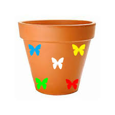 Butterfly Decal Set Flower Pot Decoration Outdoor Gardening Stickers Sold By Big Tees Printing On Storenvy