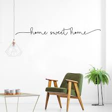 Home Sweet Home Simple Welcoming Minimalist Quote Wall Art Decal Remov House Boutique