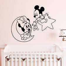 Mickey Minnie Mouse Wall Sticker Mural Wallsticker For Living Room Kids Babys Room Home Decor Wall Art Decal Decoration Buy At The Price Of 2 54 In Aliexpress Com Imall Com