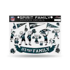 Philadelphia Eagles Nfl Spirit Family Car Window Decals Walmart Com Walmart Com