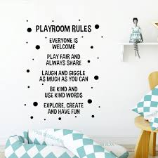 Playroom Rules Wall Stickers Nursery Kids Room Home Decor Vinyl Wall Decals Boys Gaming Room Dormitory House Decoration Z048 Wall Stickers Aliexpress