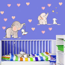 Wall Sticker For Baby Room Cute Animal Elephant Rabbit Vinyl Wall Decals For Kid For Sale Online