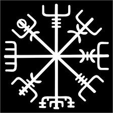 Icelandic Viking Vegvisir Rune White Vinyl Decal Etsy In 2020 Runes Maori Tattoo Maori