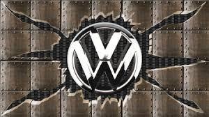 ed steel chrome vw logo