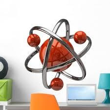 Amazon Com Wallmonkeys Atomic Atom Science Wall Decal Peel And Stick Educational Graphics 36 In H X 36 In W Wm225311 Furniture Decor