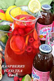 raspberry iced tea punch recipe thood