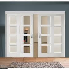 sliding room divider with white shaker