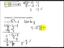 unit 3 solving linear equations and