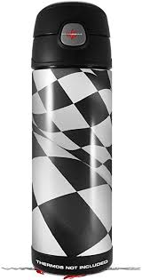 Amazon Com Skin Decal Wrap For Thermos Funtainer 16oz Bottle Checkered Racing Flag Bottle Not Included By Wraptorskinz Kitchen Dining