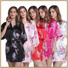 2020 silk like bridesmaid robes 2019