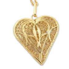 handcrafted heart shaped gold plated