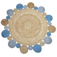 indoor outdoor jute rug blue