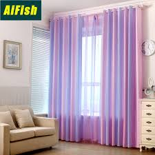 Colorful Stripes Semi Blackout Curtains And Tulle Drapes For Kids Room Window Treatment Curtains For Bedroom Living Room Wp1492 Buy At The Price Of 6 07 In Aliexpress Com Imall Com