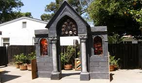 Halloween Facade Haunted House Prop Spooky Mausoleum Entrance Halloween Decorations Youtube