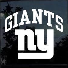 New York Ny Giants Window Decal Sticker Custom Sticker Shop