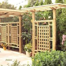 Freestanding Privacy Screen Trellis Backyard Pergola Backyard Backyard Privacy
