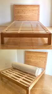 diy bed frame wood headboard 1500
