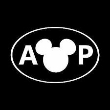 Annual Passholder Oval Disney Inspired Window Sticker Decal Stick Emall Vinyl Decals