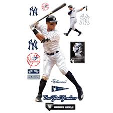 Aaron Judge New York Yankees Fathead 14 Pack Life Size Removable Wall Decal Walmart Com Walmart Com