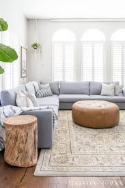 decorate a living room with a sectional