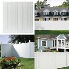 6 X 6 Ft White Vinyl Fence Panel Privacy Fencing Pickets Rails Unassembled Flat For Sale Online