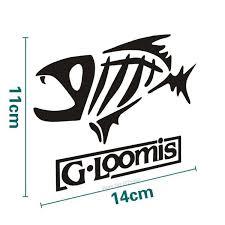 G Loomis Skeleton Tribal Fish Vinyl Decal Sticker Kayak Fishing Car Truck Boat Window Decal Car Styling Accessories Wish