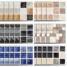 18 180pcs Self Adhesive Wall Decal Tile Vinyl Sticker Diy Kitchen Bathroom Home Decor Walmart Com Walmart Com