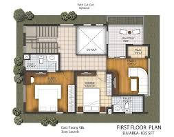 east facing plans 3 bhk duplex villas
