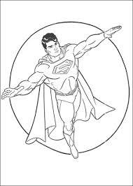 Superman Held Kleurplaat Gratis Kleurplaten Printen