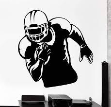 Vinyl Wall Decal American Football Player Sports Helmet Stickers Uniqu Wallstickers4you