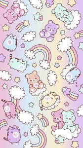 care bears x pusheen iphone wallpaper