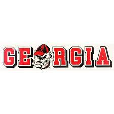 Georgia Decal Ga Bulldog Block 10