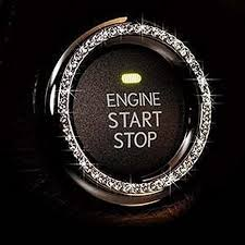 Amazon Com Bling Decor Crystal Rhinestone Car Bling Ring Emblem Sticker Bling Car Accessories For Women Push To Start Button Key Ignition Starter Knob Ring Interior Glam Car Decor Accessory Silver Furniture